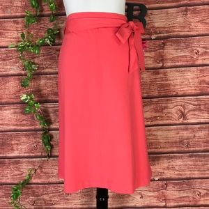 Liz Claiborne Skirt XXL Plus 18 Coral Stretch Ties